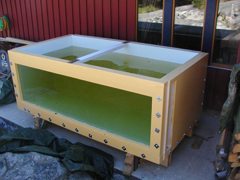 Diy plywood aquarium 581 gallons build it pinterest for Diy fish tank